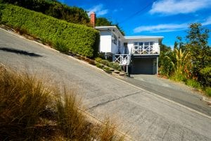 Property on a slope or high grade percentage